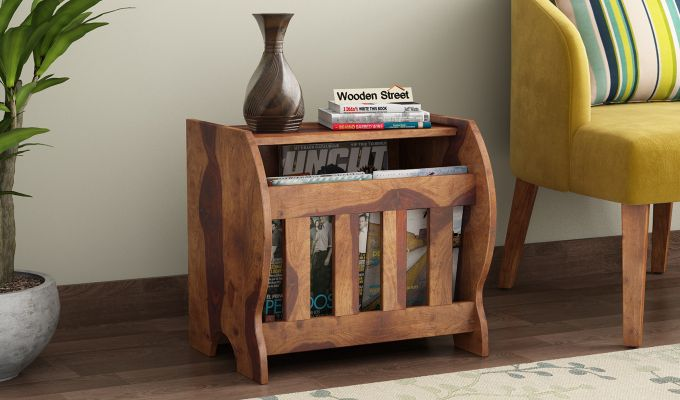 Xavier Magazine Rack (Teak Finish)-1
