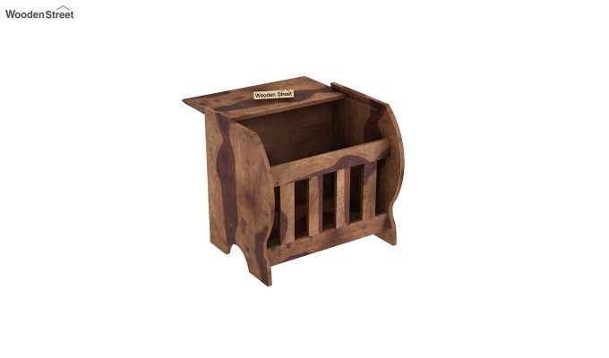 Xavier Magazine Rack (Teak Finish)-4