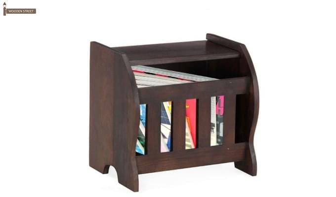 Xavier Magazine Rack (Mahogany Finish)-1