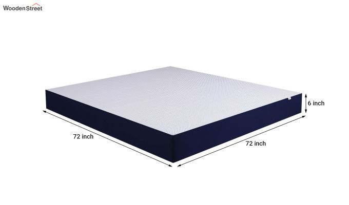 Dreamer Dual Comfort Memory Foam Orthopaedic Mattress (6 inch, King, 72 x 72)-6