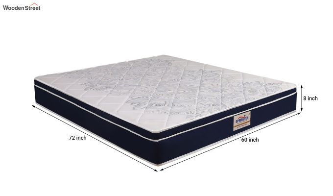 Euro Top Luxe Memory Foam Pocket Spring Mattress (8 inch, Queen, 72 x 60)-6