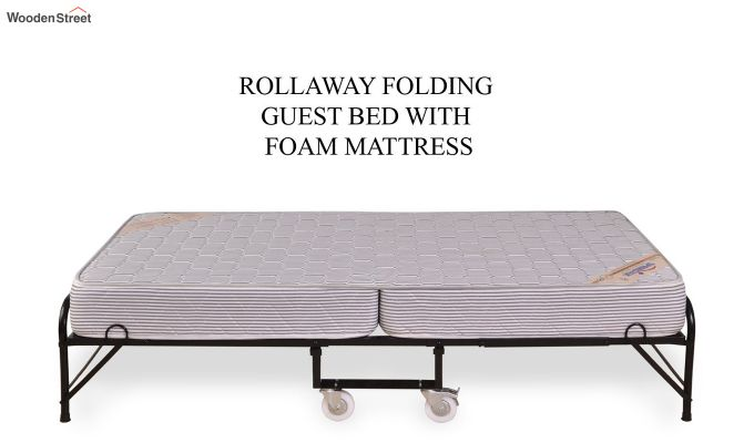 Folding Rollaway Bed with Mattress (6 inch, Single, 75 x 36)-4