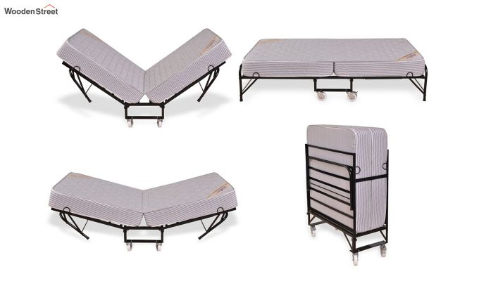 Folding Rollaway Bed with Mattress (6 inch, Single, 75 x 36)-5