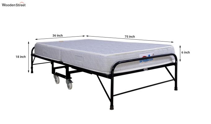 Folding Rollaway Bed with Mattress (6 inch, Single, 75 x 36)-7
