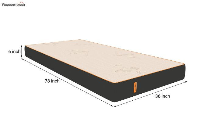 Penguin Eris 6 inch  Memory Foam  Mattress (Steel Grey)-8