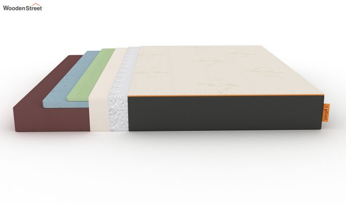 Penguin Eris 8 inch Cool Gel Memory Foam Luxury Mattress (King Size,Steel Grey)-7