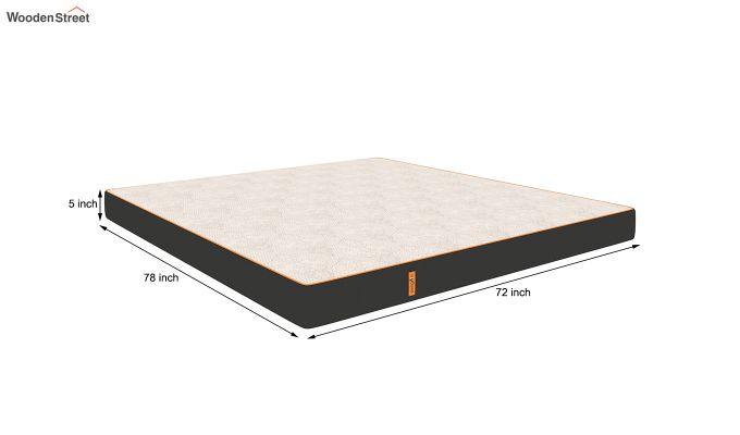 Penguin Fall 5 inch Soft Foam King Size Luxury Mattress (King Size,Steel Grey)-9