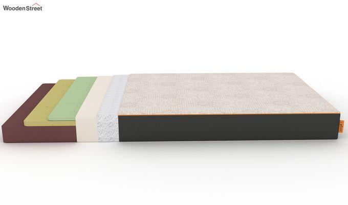 Penguin Fall 6 inch Soft Memory Foam Single Size Luxury Mattress (Steel Grey)-7