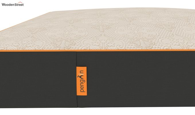 Penguin Fall 8 inch Cool Gel Memory Foam King Size Luxury Mattress (King Size,Steel Grey)-6