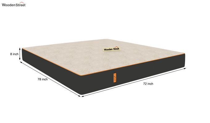 Penguin Fall 8 inch Cool Gel Memory Foam King Size Luxury Mattress (King Size,Steel Grey)-9