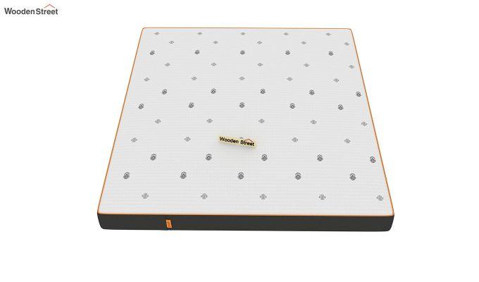 Penguin Motif 5 inch Soft Foam Queen Size Luxury Mattress (Queen Size,Steel Grey)-3