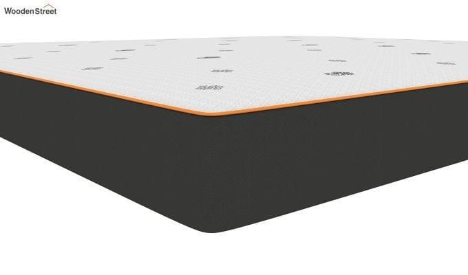 Penguin Motif 5 inch Soft Foam King Size Luxury Mattress (King Size,Steel Grey)-4
