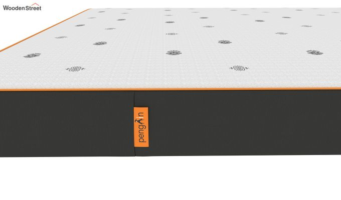 Penguin Motif 5 inch Soft Foam Queen Size Luxury Mattress (Queen Size,Steel Grey)-6
