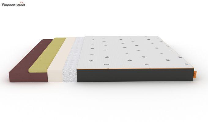 Penguin Motif 5 inch Soft Foam King Size Luxury Mattress (King Size,Steel Grey)-7
