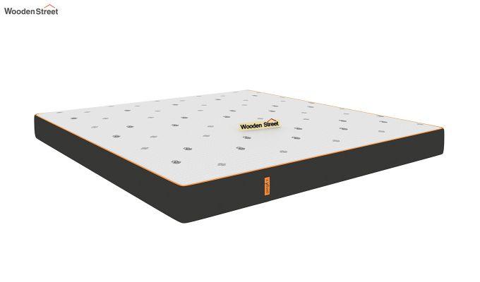 Penguin Motif 6 inch Soft Memory Foam King Size Luxury Mattress (Queen Size,Steel Grey)-2