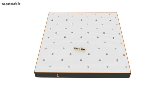 Penguin Motif 6 inch Soft Memory Foam Queen Size Luxury Mattress (Queen Size,Steel Grey)-3