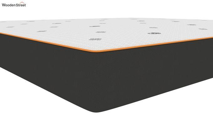 Penguin Motif 6 inch Soft Memory Foam King Size Luxury Mattress (King Size,Steel Grey)-4
