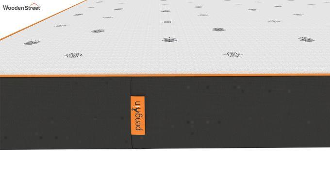 Penguin Motif 6 inch Soft Memory Foam King Size Luxury Mattress (King Size,Steel Grey)-6