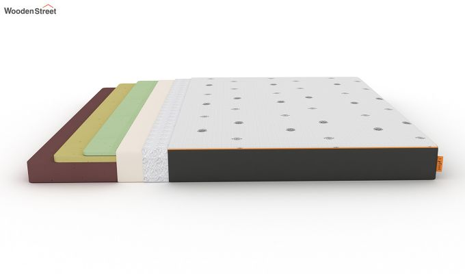 Penguin Motif 6 inch Soft Memory Foam King Size Luxury Mattress (King Size,Steel Grey)-7