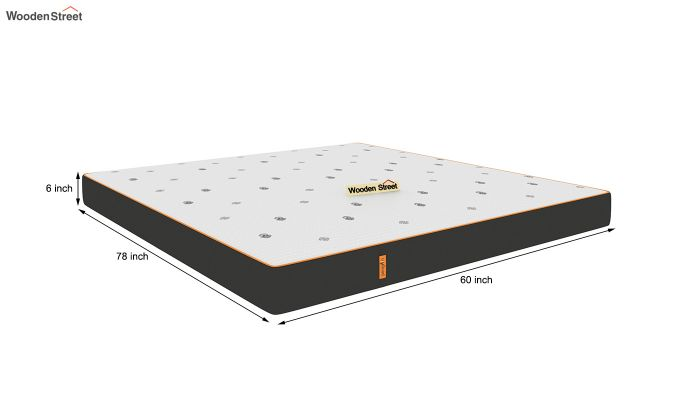 Penguin Motif 6 inch Soft Memory Foam King Size Luxury Mattress (Queen Size,Steel Grey)-9