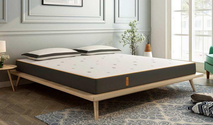 Penguin Motif 6 inch Soft Memory Foam King Size Luxury Mattress (King Size,Steel Grey)-1