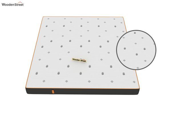 Penguin Motif 6 inch Soft Memory Foam King Size Luxury Mattress (King Size,Steel Grey)-5