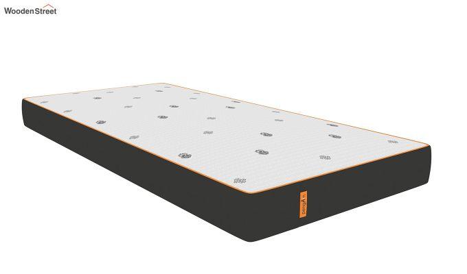 Penguin Motif 6 inch Soft Memory Foam Single Size Luxury Mattress (Steel Grey)-1