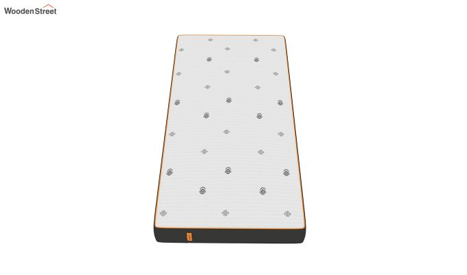 Penguin Motif 6 inch Soft Memory Foam Single Size Luxury Mattress (Steel Grey)-2