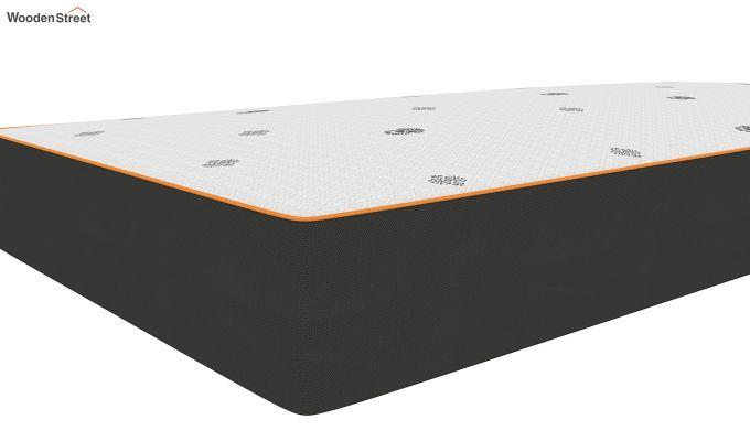Penguin Motif 6 inch Soft Memory Foam Single Size Luxury Mattress (Steel Grey)-3