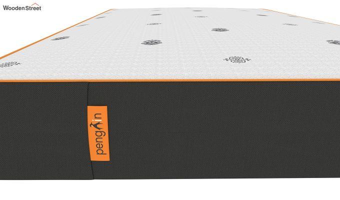 Penguin Motif 6 inch Soft Memory Foam Single Size Luxury Mattress (Steel Grey)-4