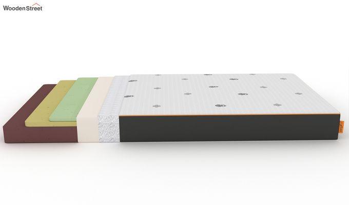 Penguin Motif 6 inch Soft Memory Foam Single Size Luxury Mattress (Steel Grey)-7