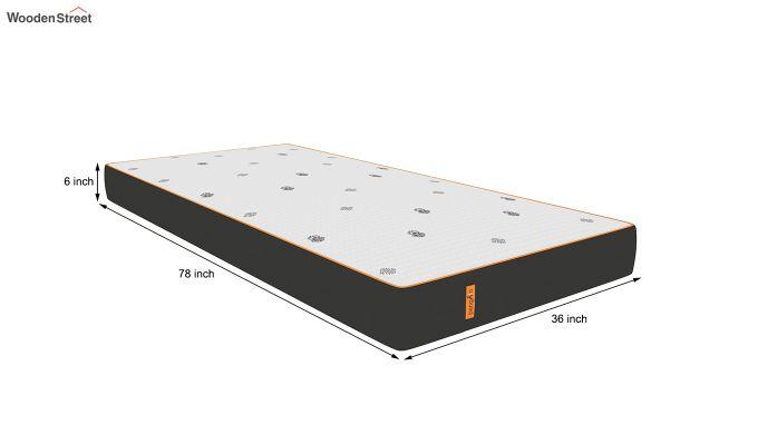Penguin Motif 6 inch Soft Memory Foam Single Size Luxury Mattress (Steel Grey)-8