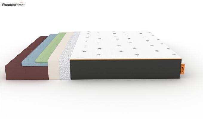 Penguin Motif 8 inch Cool Gel Memory Foam Queen Size Luxury Mattress (Queen Size,Steel Grey)-8