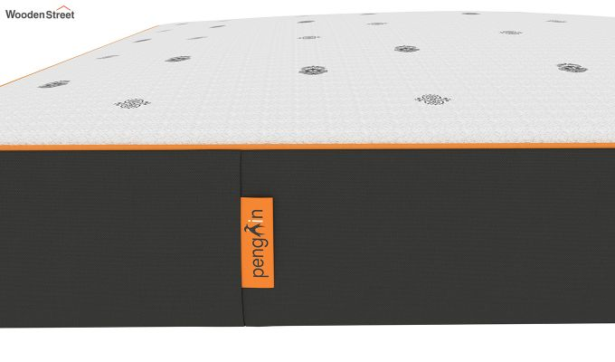 Penguin Motif 8 inch Cool Gel Memory Foam King Size Luxury Mattress (King Size,Steel Grey)-5