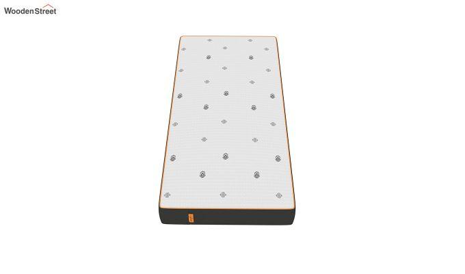 Penguin Motif 8 inch Cool Gel Memory Foam Single Size Luxury Mattress (Steel Grey)-2