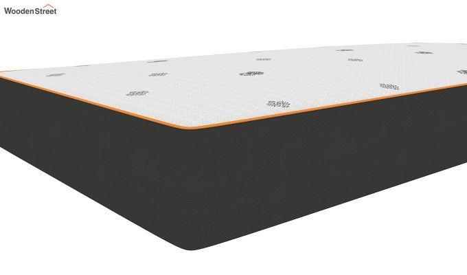 Penguin Motif 8 inch Cool Gel Memory Foam Single Size Luxury Mattress (Steel Grey)-3
