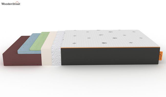 Penguin Motif 8 inch Cool Gel Memory Foam Single Size Luxury Mattress (Steel Grey)-7