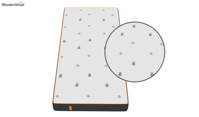 Penguin Motif 8 inch Cool Gel Memory Foam Single Size Luxury Mattress (Steel Grey)-5