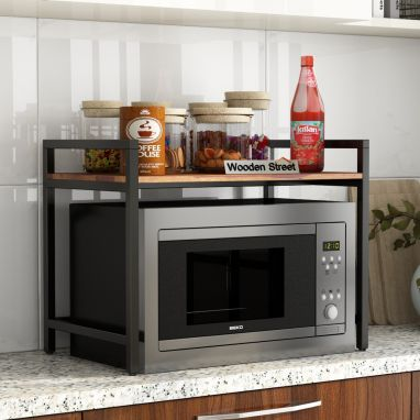 Spora Microwave Stand (Honey Finish)