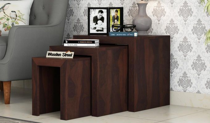 Arie Nest of Tables (Walnut Finish)-1