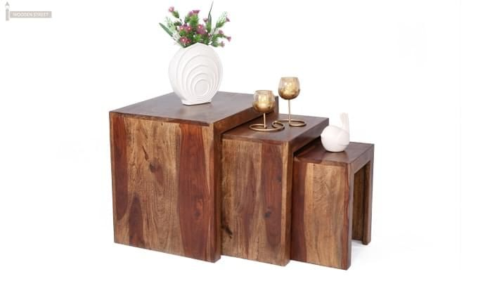 Arie Table Sets (Teak Finish)-1