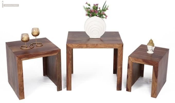 Arie Table Sets (Teak Finish)-2