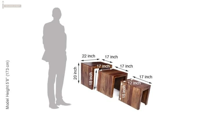 Arie Table Sets (Teak Finish)-12
