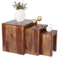 Arie Table Sets (Teak Finish)