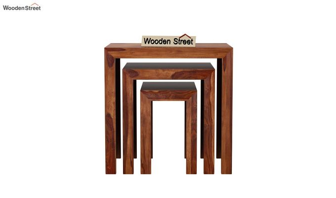 Axar Nest Of Tables (Teak Finish)-3