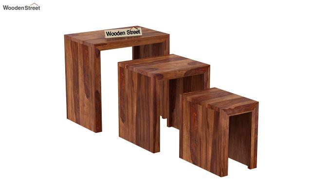 Axar Nest Of Tables (Teak Finish)-4