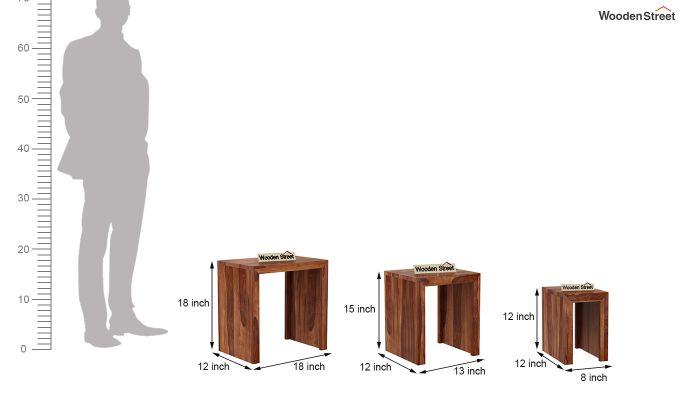 Axar Nest Of Tables (Teak Finish)-8