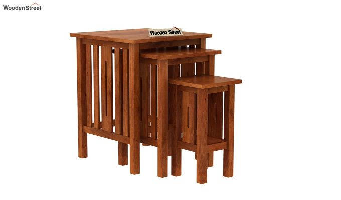 Ayotte Nest of Tables (Honey Finish)-2