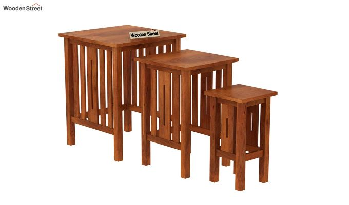 Ayotte Nest of Tables (Honey Finish)-4
