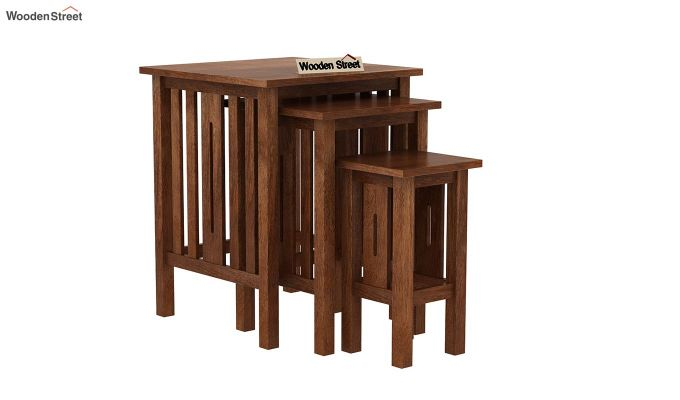 Ayotte Nest of Tables (Teak Finish)-2